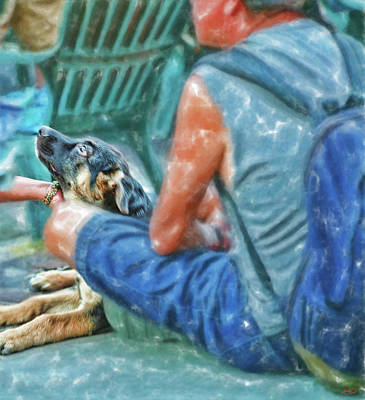 Digital Art - Waiting For The Parade Watercolor by Gary Baird