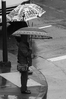China Town Photograph - Waiting In The Rain by Aidan Moran