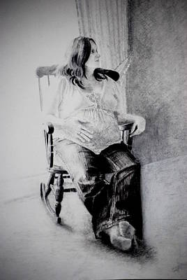 Drawing - Waiting by Lynn Hughes