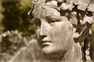 Roman Statue Photograph - Waiting by Mary Machare