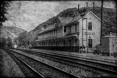 Photograph - Waiting On The Ghost Train by Christine Annas