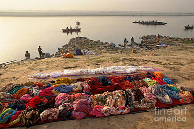Cremation Ghat Photograph - Waiting To Be Washed by Serena Bowles