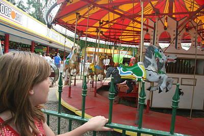 Waiting To Ride Carousel Original