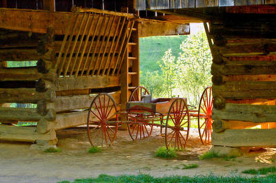 Waiting Wagon Art Print