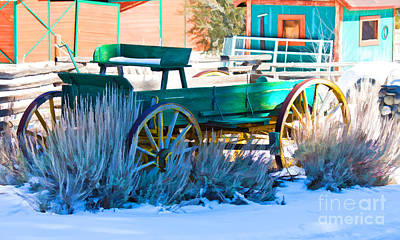 Waiting Wagon Art Print