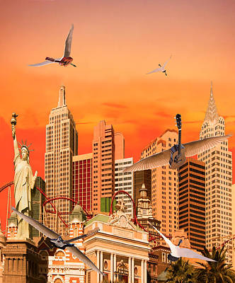 Boxing Legends Digital Art - Waking Up In Las Vegas Rocks by Eric Kempson