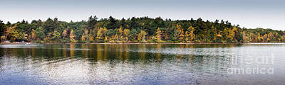 Walden Pond Panorama I Art Print by Thomas Marchessault