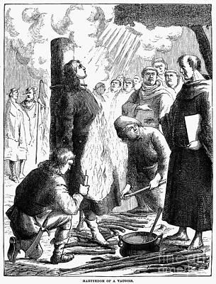 Waldenses Burned Alive Art Print by Granger