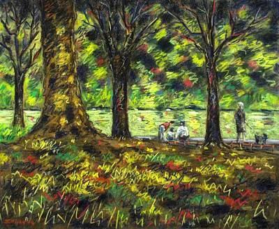 Walk In The Park Art Print by John  Nolan