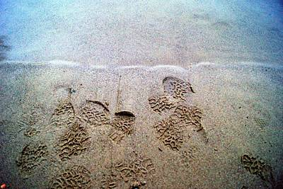 Walk In The Sand Art Print by Tristan Bosworth
