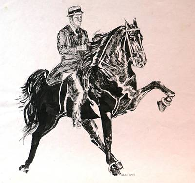Tennessee Walker Drawing - Walker by Debi Davis