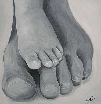 Walking Around Art Print by Ema Dolinar Lovsin