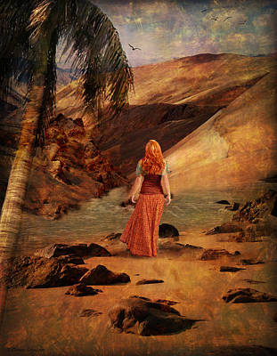 Walking Barefoot Art Print
