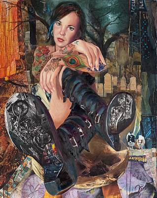 Edgy Painting - Walking Boots by Jami Childers
