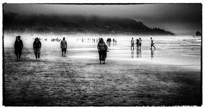 Walking In The Mist Art Print
