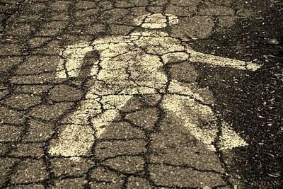 Walking Man In Sepia Art Print