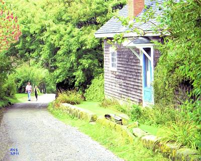 Walking Monhegan Art Print by Richard Stevens