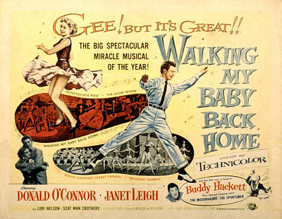 Posth Photograph - Walking My Baby Back Home, Janet Leigh by Everett