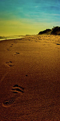 Walking Off Into The Sunset Art Print by David Hahn