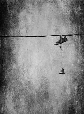 Walking On A Wire Print by Empty Wall
