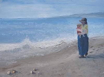 Painting - Walking On The Beach by Angela Stout