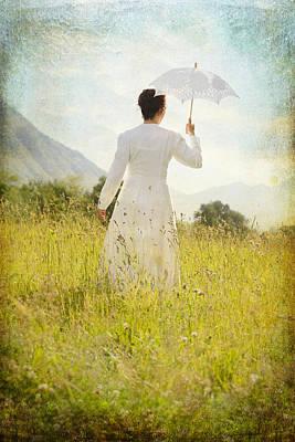 Turf Photograph - Walking On The Meadow by Joana Kruse