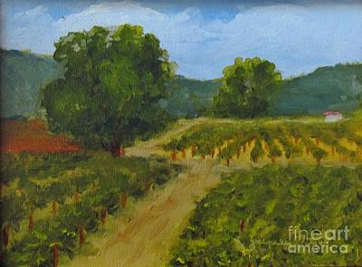 Painting - Walking Path In The Vineyard by Jeanie Watson