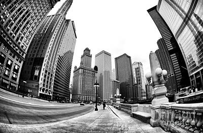 Photograph - Walking The Line In Chicago by John Rizzuto