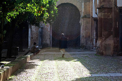 Photograph - Walking The Mezquita by Lorraine Devon Wilke
