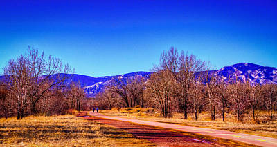 Walking The South Platte Park Trail Art Print