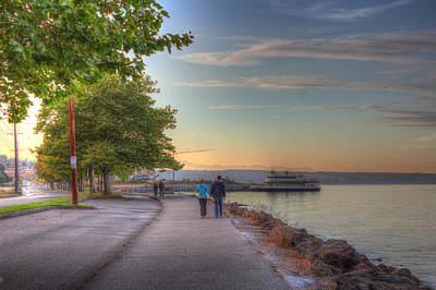 Photograph - Walking The Tacoma Waterfront by Barry Jones