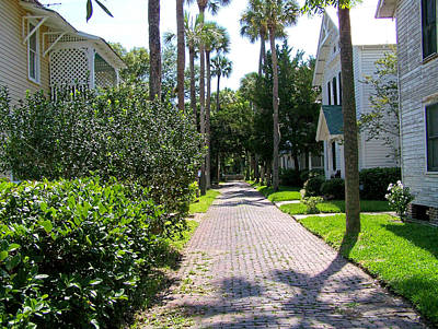 Photograph - Walking Through St. Augustine by Judy Wanamaker
