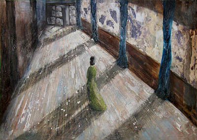 Painting - Walking Through Your Midnight by Martine Letoile