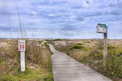 Beach Landscape Photograph - Walking To The Beach by Betsy Knapp