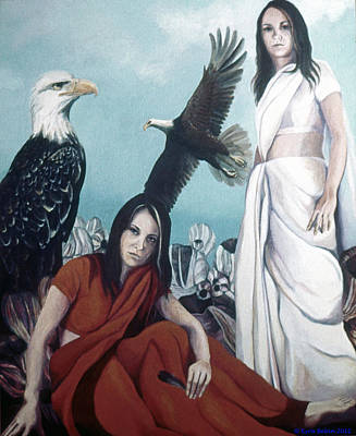Painting - Walks With Eagles by Kyra Belan