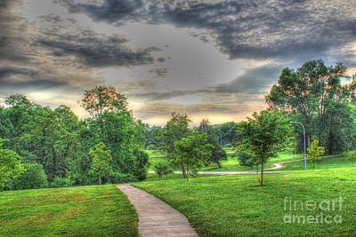 Photograph - Walkway In A Park by Jeremy Lankford