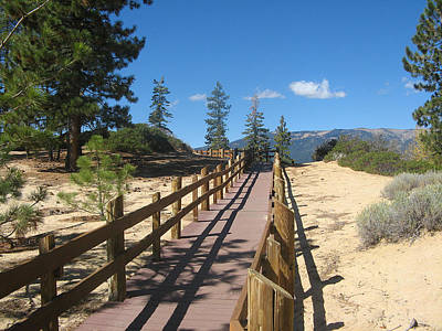 Photograph - Walkway Near Lake Tahoe by Leontine Vandermeer