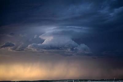 Wall Cloud Convecting Art Print by Loren Rye