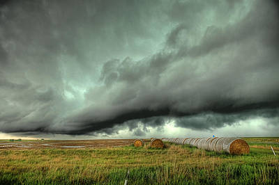 Rotation Photograph - Wall Cloud by Thomas Zimmerman