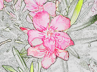 Wall  Flower Original by Dennis Dugan