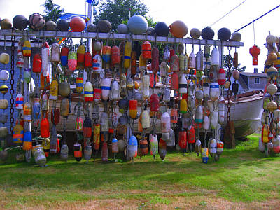 Wall Of Floats Art Print by Kym Backland