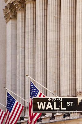 Photograph - Wall Street Columns by Brian Jannsen