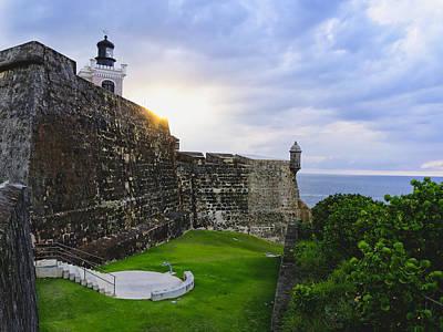 Walls Of Fort San Felipe Del Morro Art Print by George Oze