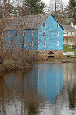 Reflection Photograph - Walnford Gristmill by Steven Richman