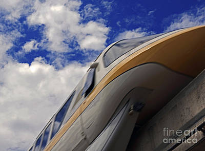 Pyrography - Walt Disney World - Monorail Yellow by AK Photography