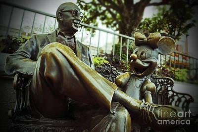 Walt Disney World - Magic Kingdom Art Print by AK Photography