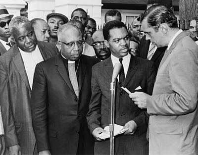Discrimination Photograph - Walter Fauntroy Second From Right by Everett
