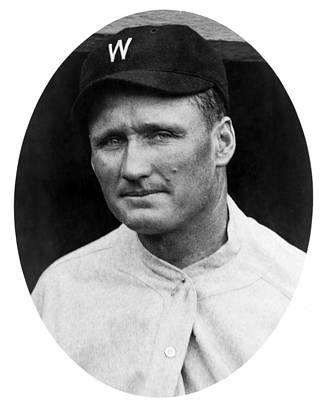 Art Print featuring the photograph Walter Johnson - Washington Senators Baseball Player by International  Images