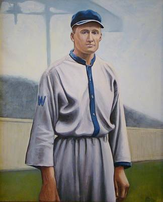 Painting - Walter Johnson by Mark Haley
