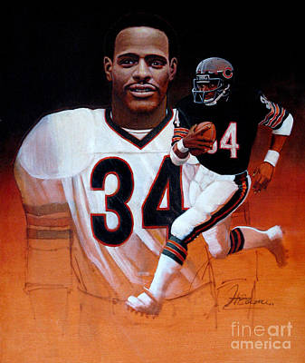 Nfl Legends Painting - Walter Payton by Hedward Brooks